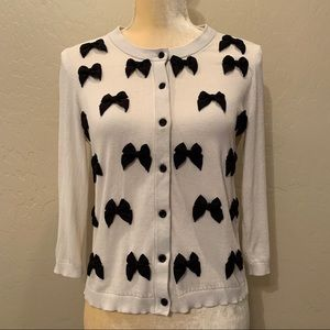 Kate Spade Bows Cotton Cardigan Sweater